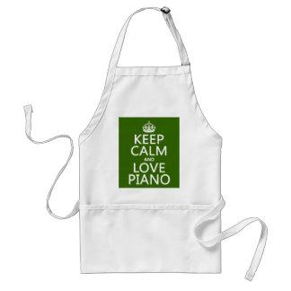 Behalten Sie Ruhe-und Liebe-Klavier (irgendeine Schürze