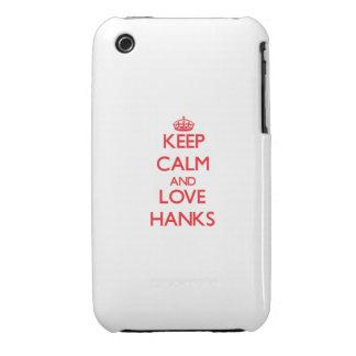 Behalten Sie Ruhe und Liebe Knäuel iPhone 3 Case-Mate Hülle