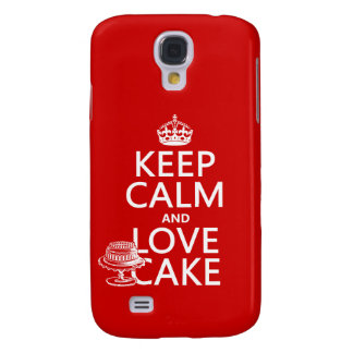 Behalten Sie Ruhe-und Liebe-Kuchen Galaxy S4 Hülle