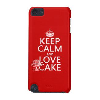 Behalten Sie Ruhe-und Liebe-Kuchen iPod Touch 5G Hülle