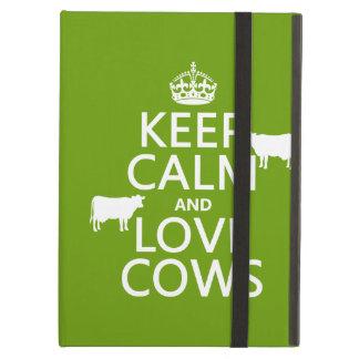 Behalten Sie Ruhe-und Liebe-Kühe (alle Farben)
