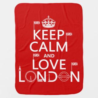 Behalten Sie Ruhe und Liebe London Kinderwagendecke