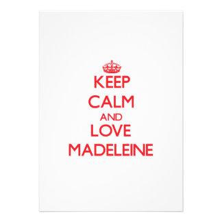 Behalten Sie Ruhe und Liebe Madeleine Einladung