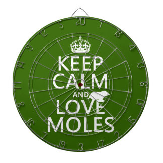 Behalten Sie Ruhe-und Liebe-Molen (irgendeine Dartscheibe