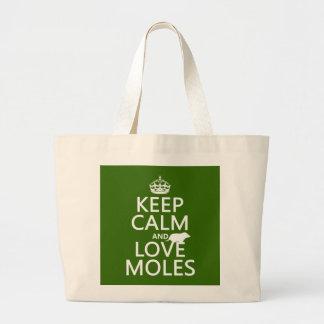 Behalten Sie Ruhe-und Liebe-Molen (irgendeine Jumbo Stoffbeutel