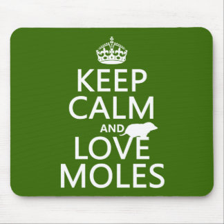 Behalten Sie Ruhe-und Liebe-Molen (irgendeine Mousepads