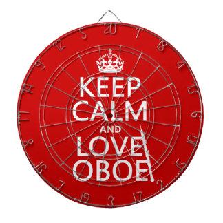 Behalten Sie Ruhe und Liebe Oboe (irgendeine Dartscheibe