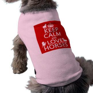 Behalten Sie Ruhe-und Liebe-Pferde - alle Farben T-Shirt