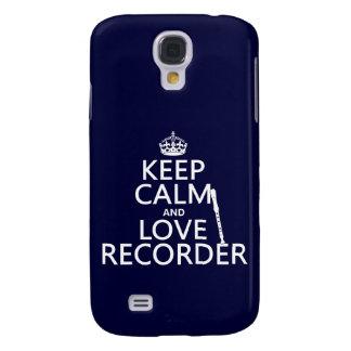 Behalten Sie Ruhe-und Liebe-Recorder (irgendeine Galaxy S4 Hülle