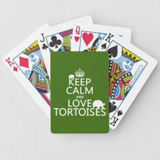 Behalten Sie Ruhe-und Liebe-Schildkröten Bicycle Spielkarten