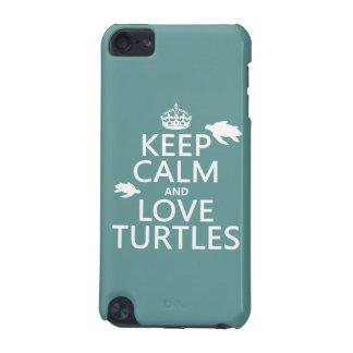 Behalten Sie Ruhe-und Liebe-Schildkröten iPod Touch 5G Hülle
