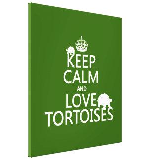Behalten Sie Ruhe-und Liebe-Schildkröten Leinwanddruck