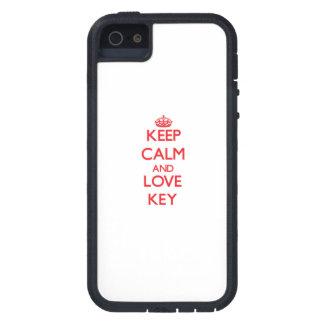 Behalten Sie Ruhe und Liebe Schlüssel iPhone 5 Hüllen