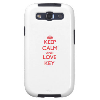 Behalten Sie Ruhe und Liebe Schlüssel Hülle Fürs Samsung Galaxy S3