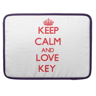 Behalten Sie Ruhe und Liebe Schlüssel Sleeve Für MacBook Pro