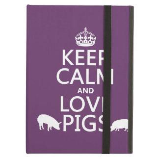 Behalten Sie Ruhe-und Liebe-Schweine (alle Farben)
