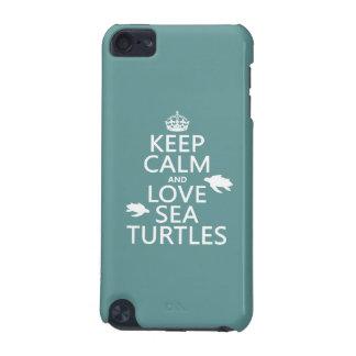 Behalten Sie Ruhe-und Liebe-Seeschildkröten iPod Touch 5G Hülle