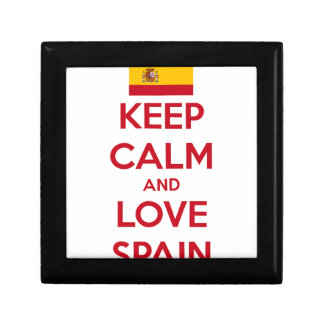 Behalten Sie Ruhe und Liebe Spanien Geschenkbox