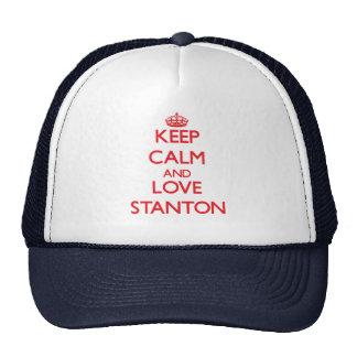 Behalten Sie Ruhe und Liebe Stanton Retro Cap