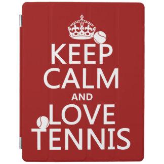 Behalten Sie Ruhe-und Liebe-Tennis iPad Hülle
