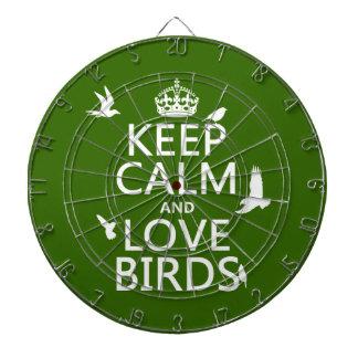 Behalten Sie Ruhe-und Liebe-Vögel (irgendeine Dartscheibe