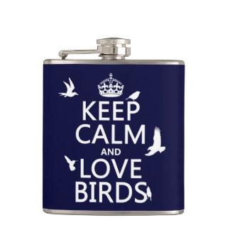 Behalten Sie Ruhe-und Liebe-Vögel (irgendeine Flachmann