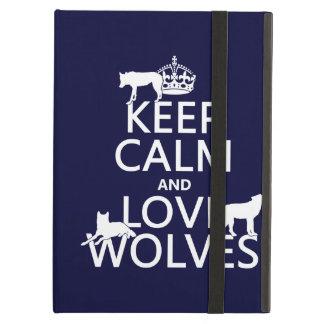 Behalten Sie Ruhe-und Liebe-Wölfe (irgendeine