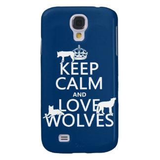 Behalten Sie Ruhe-und Liebe-Wölfe (irgendeine Galaxy S4 Hülle