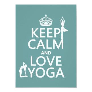 Behalten Sie Ruhe-und Liebe-Yoga (kundengerechte Karte