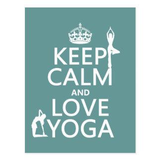 Behalten Sie Ruhe-und Liebe-Yoga (kundengerechte Postkarte