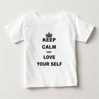 BEHALTEN Sie RUHE UND LIEBE YOURSELF.png Baby T-shirt