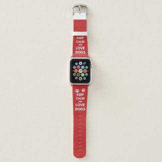 Behalten Sie Ruhe- und Liebehunde Apple Watch Armband