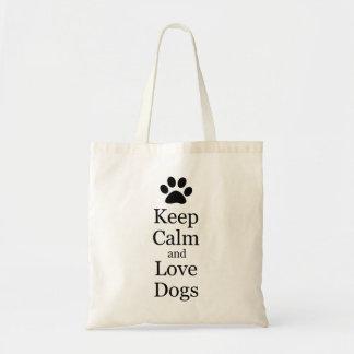 behalten Sie Ruhe- und LiebehundeTasche Budget Stoffbeutel