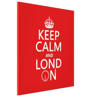 Behalten Sie Ruhe und Lond auf (London) Leinwanddruck