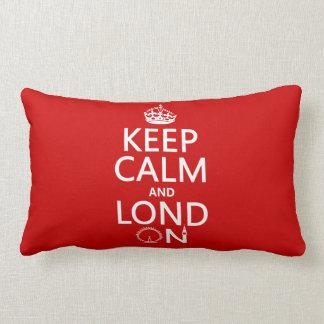Behalten Sie Ruhe und Lond auf (London) Lendenkissen