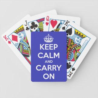 Behalten Sie Ruhe und machen Sie Blau weiter Bicycle Spielkarten