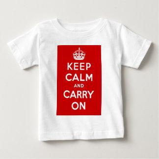 Behalten Sie Ruhe und machen Sie britisches Plakat Baby T-shirt