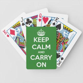 Behalten Sie Ruhe und machen Sie Grün weiter Bicycle Spielkarten