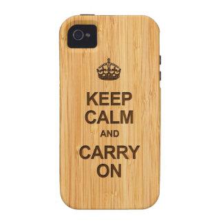 Behalten Sie Ruhe und machen Sie im Bambusblick Vibe iPhone 4 Case