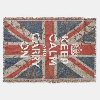 Behalten Sie Ruhe und machen Sie mit BRITISCHER Decke