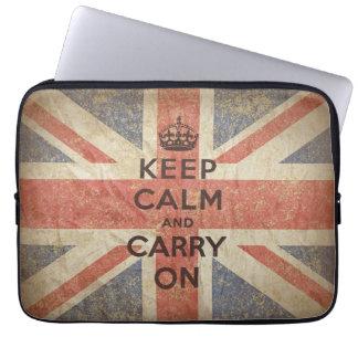 Behalten Sie Ruhe und machen Sie mit BRITISCHER Fl Computer Schutzhüllen
