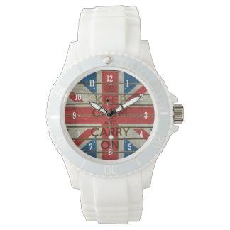Behalten Sie Ruhe und machen Sie mit BRITISCHER Uhr