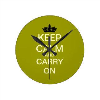 Behalten Sie Ruhe und machen Sie moderne Wand-Uhr Runde Wanduhr