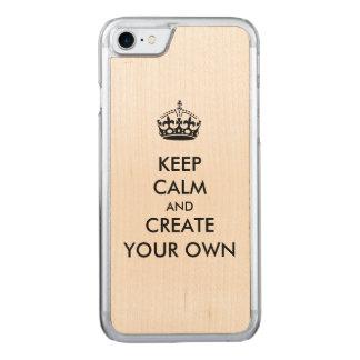 Behalten Sie Ruhe und machen Sie schaffen Ihr Carved iPhone 8/7 Hülle
