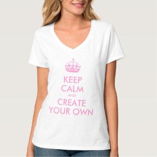 Behalten Sie Ruhe und machen Sie schaffen Ihr Shirts