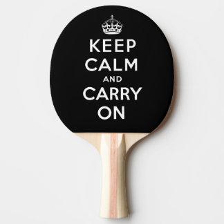 Behalten Sie Ruhe und machen Sie | schwarzen Tischtennis Schläger