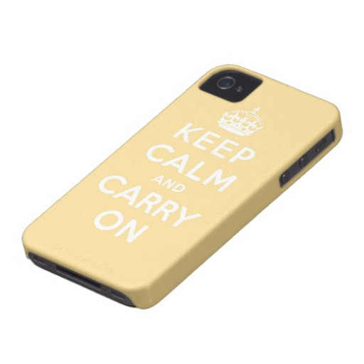 behalten Sie Ruhe und machen Sie Vorlage weiter iPhone 4 Case-Mate Hüllen