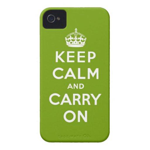 behalten Sie Ruhe und machen Sie Vorlage weiter iPhone 4 Case-Mate Hülle