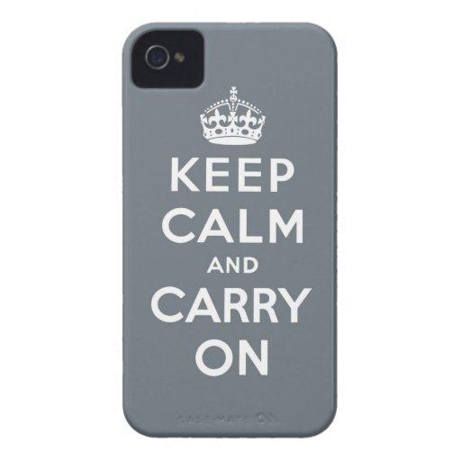 behalten Sie Ruhe und machen Sie Vorlage weiter iPhone 4 Hülle