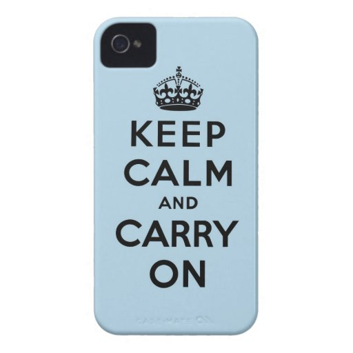 behalten Sie Ruhe und machen Sie Vorlage weiter Case-Mate iPhone 4 Hüllen